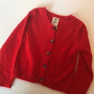 Girls red cardigan